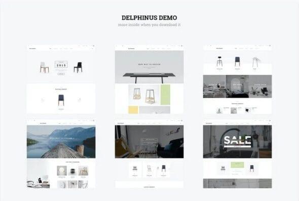 قالب فروشگاه مد و فشن Delphinus - Creative Multi-Purpose Magento Theme