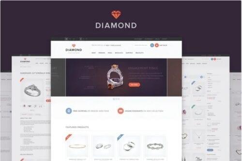 قالب فروشگاه جواهر و زینت آلات Diamond — Responsive Magento Theme