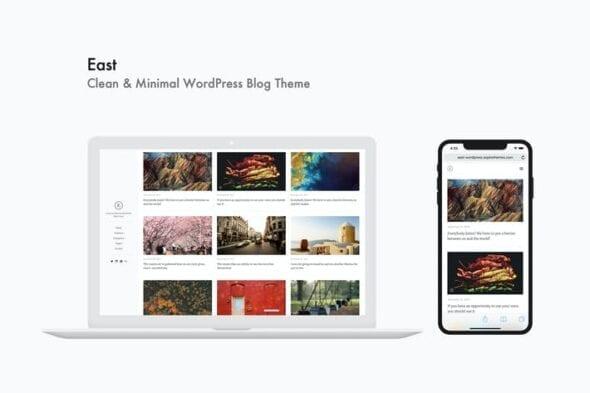 پوسته وردپرس بلاگ East - Clean & Minimal WordPress Blog Theme