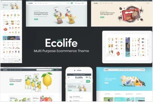 قالب فروشگاهی Ecolife - Multipurpose Opencart Theme