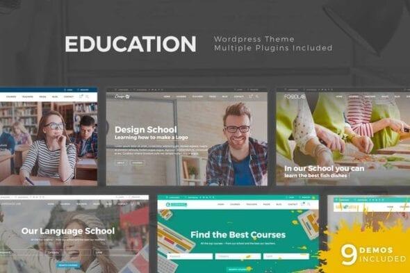 پوسته وردپرس آموزش آنلاین Education WordPress Theme
