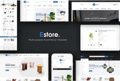 قالب فروشگاه مبلمان و دکوراسیون Estore - Responsive Magento Theme