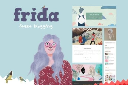 پوسته وردپرس بلاگ Frida - A Sweet & Classic Blog Theme