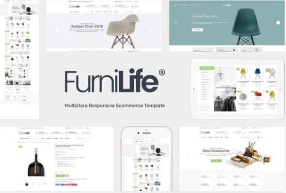 قالب فروشگاه مبلمان و دکوراسیون داخلی Furnilife - Decorations & Supplies Magento Theme