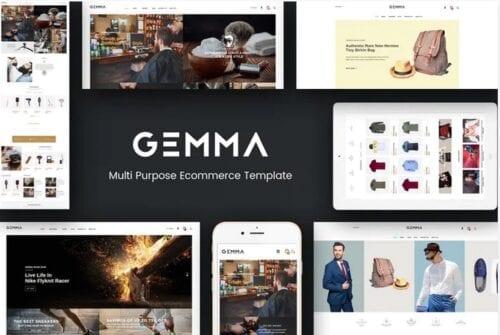 قالب فروشگاه مد و فشن Gemma - Multistore Responsive Magento Theme