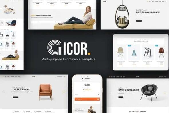 قالب فروشگاه مبلمان و دکوراسیون داخلی Gicor - Furniture OpenCart Theme