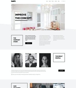 قالب وردپرس طراحی و دکوراسیون داخلی Hampoz - Responsive Interior Design & Architecture