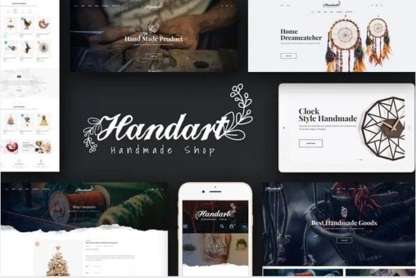 قالب فروشگاه محصولات هنری HandArt - Opencart 3 Theme for Handmade Artists