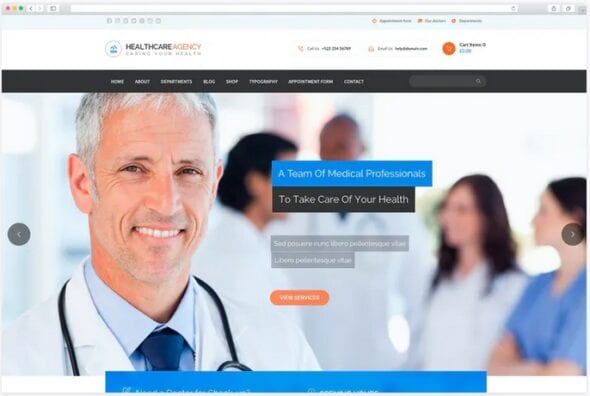 قالب وردپرس پزشکی و دندانپزشکی Healtcare Agency