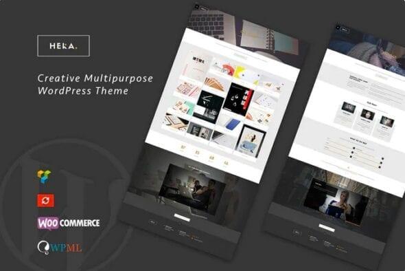 پوسته وردپرس شخصی Hera - Creative Multipurpose WordPress Theme