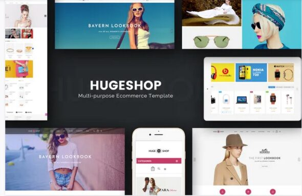 قالب فروشگاه لوازم دیجیتال و الکترونیک HugeShop - Wonderful Multi Concept Magento