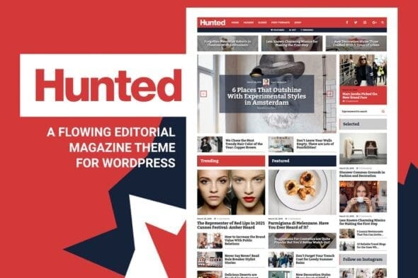 قالب وردپرس بلاگ Hunted - Editorial Magazine Blog Theme