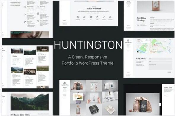 قالب وردپرس رزومه و نمونه کار Huntington – Responsive Portfolio WordPress Theme