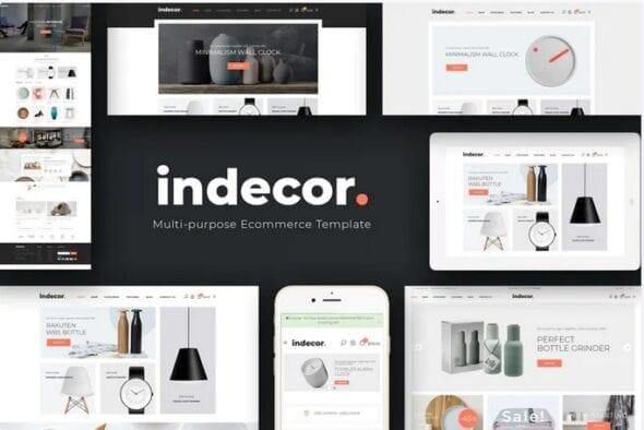 قالب فروشگاه لوازم دکوراسیون داخلی Indecor - Clean & Minimal Opencart Theme