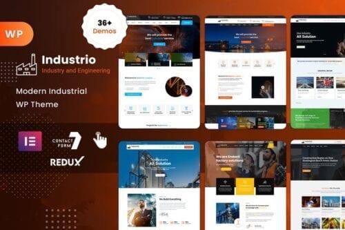 قالب وردپرس صنعتی و کارخانه Industrial - Industry & Factory WordPress