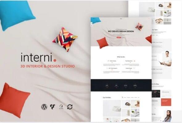 قالب وردپرس استودیو طراحی داخلی Interni 3D Interior Design Studio WordPress Theme