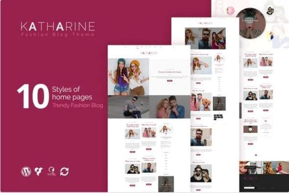 پوسته وردپرس بلاگ مد و فشن Katharine - Modern Fashion Blog WordPress Theme
