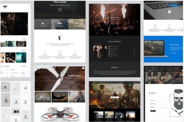 پوسته وردپرس چندمنظوره Khaki   Responsive Multi-Purpose WordPress Theme