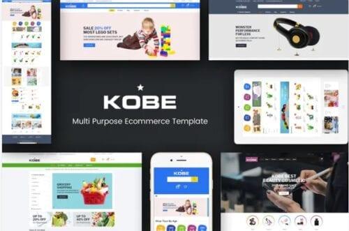قالب فروشگاه اسباب بازی Kobe - Multi Store Responsive Magento Theme