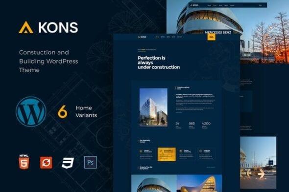 قالب وردپرس ساختمانی Kons - Construction WordPress Theme