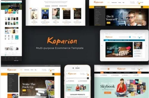 قالب فروشگاه کتاب Koparion - Book Shop Responsive OpenCart Theme