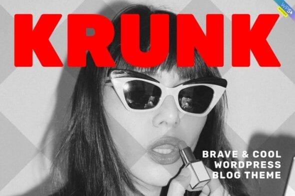 قالب وردپرس بلاگ Krunk - Brave & Cool WordPress Blog Theme