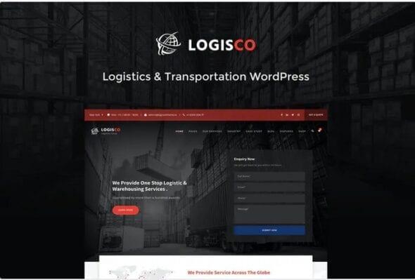 قالب وردپرس حمل و نقل و باربری Logisco - Logistics & Transportation WordPress