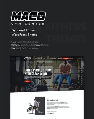 قالب وردپرس باشگاه ورزشی و تناسب اندام Maco   Gym and Fitness WordPress Theme