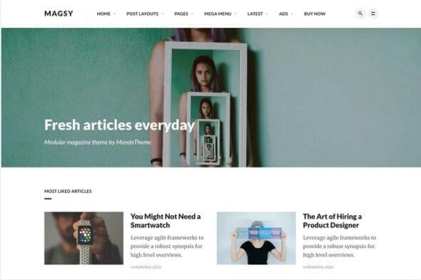 قالب وردپرس مجله و بلاگ Magsy - Modular Magazine & Blog Theme