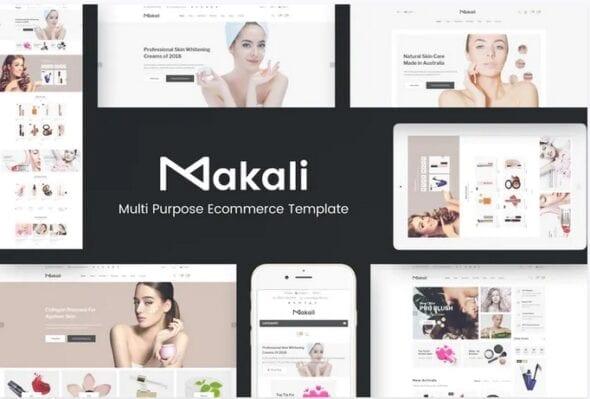 قالب فروشگاه لوازم آرایش و زیبایی Makali - Cosmetics & Beauty OpenCart Theme