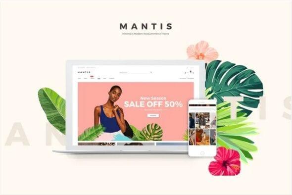 قالب وردپرس فروشگاهی Mantis - Minimal & Modern WooCommerce Theme