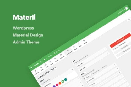 قالب وردپرس طراحی متریال Materil - WordPress Material Design Admin Theme