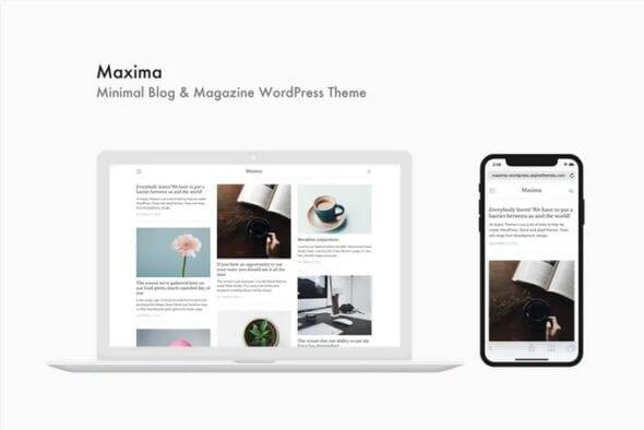 قالب وردپرس مجله و بلاگ Maxima - Minimal Blog & Magazine WordPress Theme