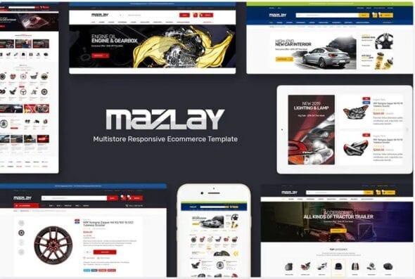 قالب فروشگاه لوازم خودرو Mazlay - Car Accessories OpenCart Theme
