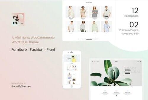 قالب وردپرس فروشگاه Minera - Minimalist WooCommerce WordPress Theme