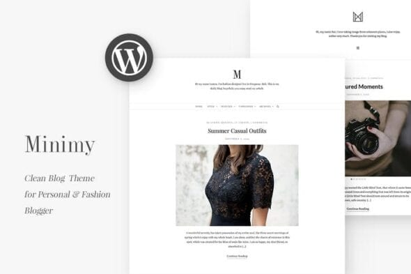 پوسته وردپرس فشن بلاگ Minimy - Responsive Clean Personal & Fashion Blog