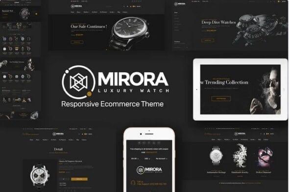 قالب فروشگاه ساعت Mirora - Watch & Luxury Store Opencart Theme