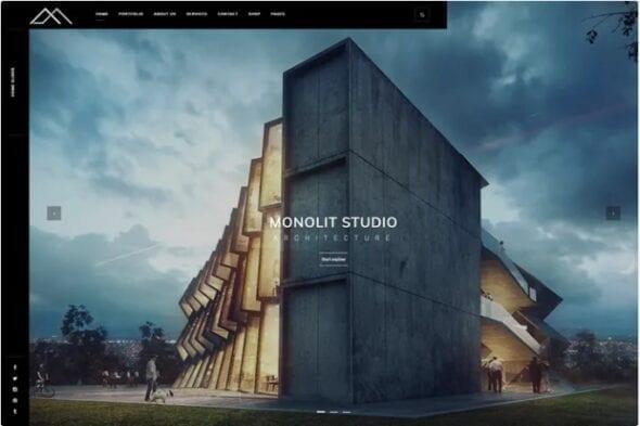 قالب وردپرس معماری Monolit – Responsive Architecture WordPress Theme