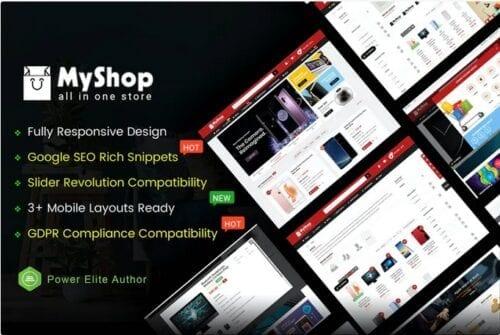 قالب فروشگاهی MyShop - Top Multipurpose OpenCart 3 Theme