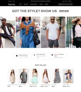 قالب فروشگاهی و ریسپانسیو جوملا Namira - Unique eCommerce J2Store Joomla Template