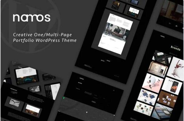 پوسته وردپرس پورتفلیو Namos - Creative One/Multi-Page Portfolio WordPress