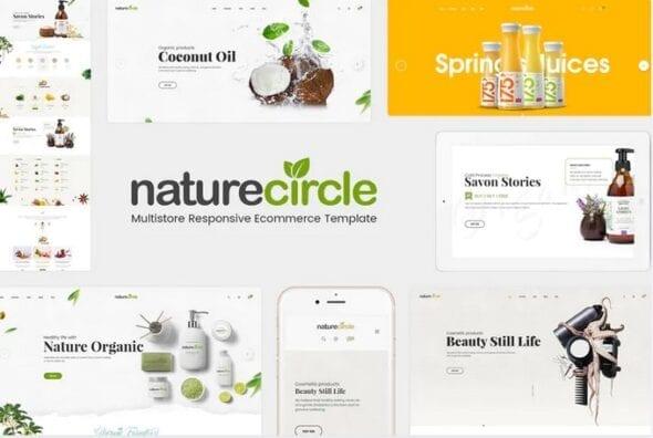 قالب فروشگاه محصولات ارگانیک NatureCircle - Organic Responsive Magento Theme