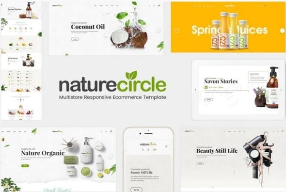قالب فروشگاه محصولات ارگانیک NatureCircle - Organic Responsive OpenCart Theme