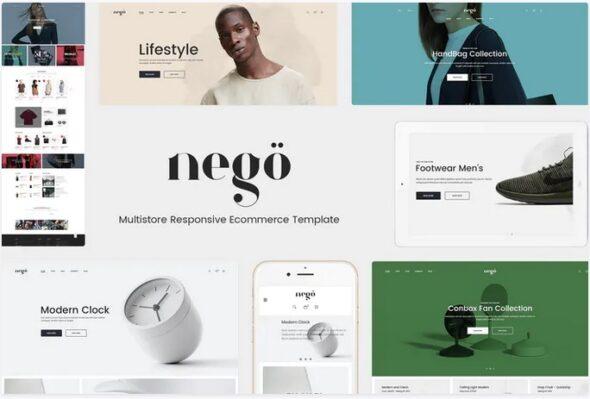 قالب فروشگاه مد و فشن Nego - Minimalist Responsive Magento Theme