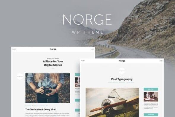 قالب وردپرس بلاگ ریسپانسیو Norge - Responsive Blog WordPress Theme