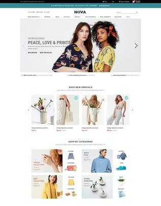 قالب فروشگاه مد و فشن Nova - Responsive Fashion OpenCart 3 Theme