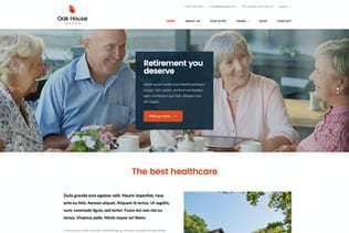 پوسته وردپرس خانه سالمندان Oak House - Senior Care, Retirement WP Theme