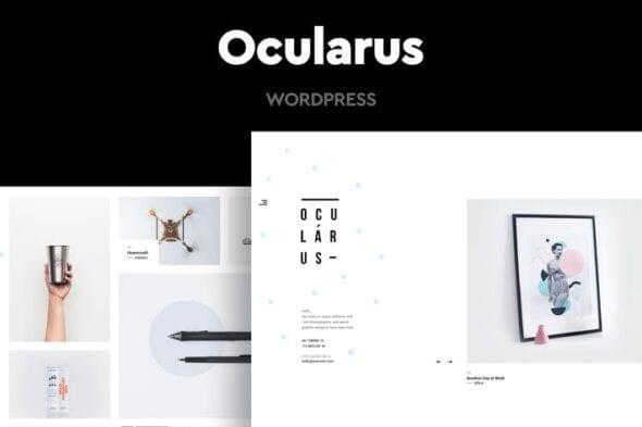 قالب وردپرس عکاسی Ocularus - Minimal Photography WordPress Theme