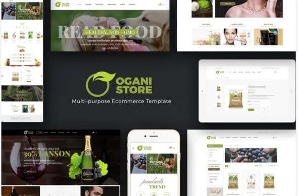 قالب فروشگاه محصولات غذایی و آرایشی ارگانیک Ogani - Organic, Food, Pet, Alcohol, Cosmetics