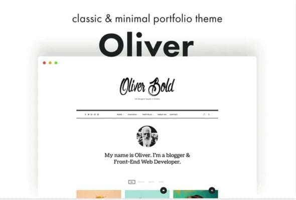پوسته وردپرس پورتفلیو Oliver - Classic & Minimal WordPress Theme